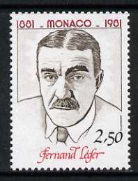 Monaco 1981 2f 50 Fernand Leger from Birth Anniversaries set of 5 unmounted mint, SG 1537
