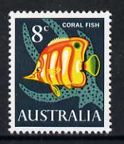 Australia 1966-73 Copper-banded butterflyfish 8c from decimal def set unmounted mint, SG 389