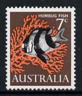 Australia 1966-73 White-tailed Dascyllus 7c (Humbug fish) from decimal def set unmounted mint, SG 388