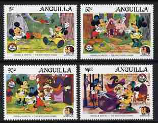 Anguilla 1985 Birth Bicentenaries of Grimm Brothers set of 4 with Disney characters in scenes from