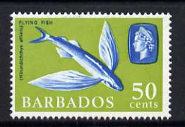 Barbados 1965 Four-winged Flying Fish 50c (wmk upright) unmounted mint, SG 333