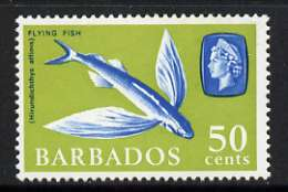 Barbados 1966-69 Flying Fish 50c (wmk sideways) unmounted mint, SG 353