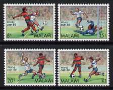Malawi 1986 World Cup Football, Mexico set of 4 unmounted mint, SG 746-49
