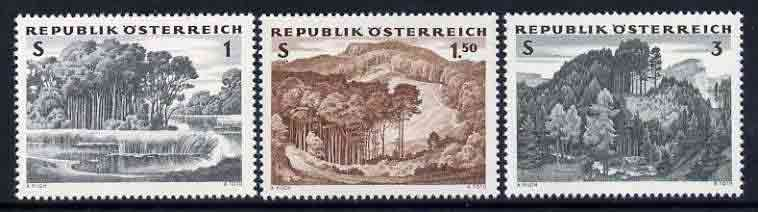Austria 1962 'The Austrian Forest' set of 3 unmounted mint, SG 1389-91