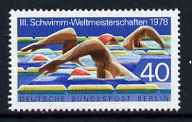 Germany - West Berlin 1978 Third World Swimming Championships 40pf unmounted mint, SG B555