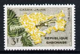 Gabon 1971 Yellow Cassia 3f unmounted mint, SG 178