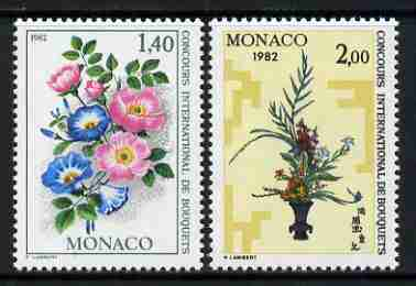 Monaco 1981 Monte Carlo Flower Show (1982) set of 2 unmounted mint, SG 1540-41