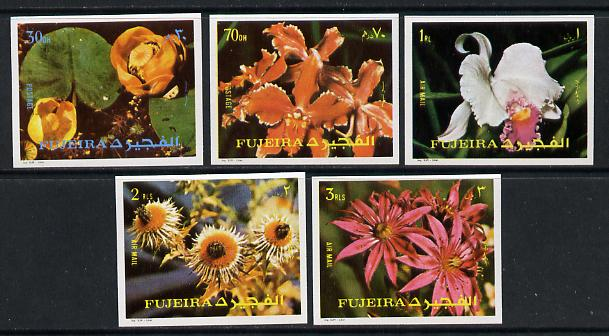 Fujeira 1972 Flowers imperf set of 5 unmounted mint (Mi 1332-36B)