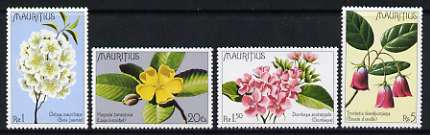 Mauritius 1977 Indigenous Flowers set of 4 unmounted mint, SG 519-522