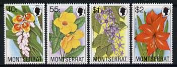Montserrat 1978 Flowers set of 4 unmounted mint, SG 427-30