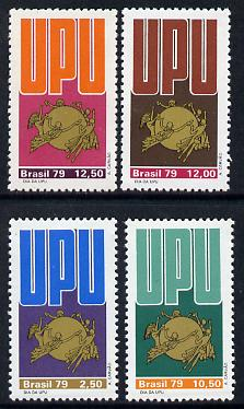 Brazil 1979 Universal Postal Union Day set of 4 unmounted mint SG 1792-95