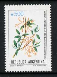 Argentine Republic 1985 Embothrium coccineum 500a from Flowers def set, unmounted mint SG 1943b