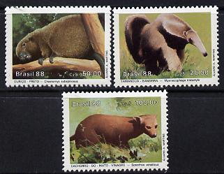 Brazil 1988 Endangered Animals set of 3 unmounted mint SG 2317-19