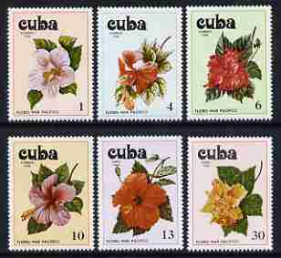 Cuba 1978 Pacific Flowers set of 6 unmounted mint, SG 2513-18