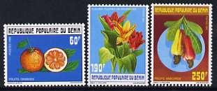 Benin 1990 Fruit & Flowers set of 3 unmounted mint, SG 1121-23