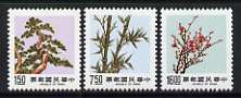 Taiwan 1988 Pine, Bamboo and Plum (3rd series) set of 3 unmounted mint, SG 1783-85