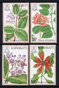 Kiribati 1981 Flowers set of 4 unmounted mint, SG 141-44