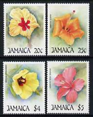 Jamaica 1987 Christmas - Flowers (2nd series), Hibiscus set of 4 unmounted mint, SG 703-06
