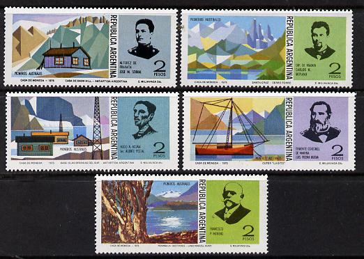 Argentine Republic 1975 Antarctic Pioneers set of 5 unmounted mint SG 1469-73*