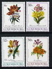 Luxembourg 1988 Luxembourg Culture - Flower illustrations by Pierre-Joseph Redoute set of 4 unmounted mint, SG 1219-22