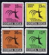 Costa Rica 1970 Inter-American Cancer Congress perf set of 4 unmounted mint, SG 837-40