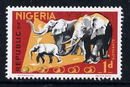 Nigeria 1969-72 Elephants 1d reprint def by NSP&M Co unmounted mint, SG 220*