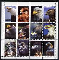 Tatarstan Republic 2001 Eagles perf sheetlet containing 12 values unmounted mint