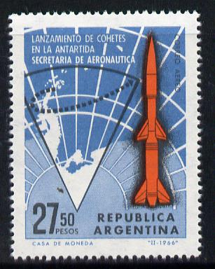 Argentine Republic 1966 Rocket Launches in Antarctica 27.50p value SG 1163 unmounted mint*