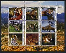 Amurskaja Republic 2000 Big Cats perf sheetlet containing set of 9 values unmounted mint