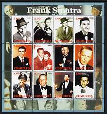 Udmurtia Republic 2002 Frank Sinatra perf sheetlet containing 12 values unmounted mint