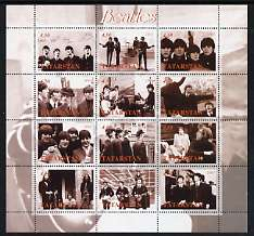 Tatarstan Republic 2001 The Beatles perf sheetlet containing set of 12 values unmounted mint