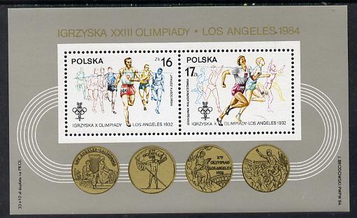 Poland 1984 Olympic Games (Athletics) m/sheet unmounted mint SG MS 2934