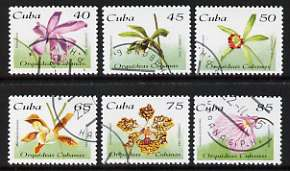 Cuba 1995 Orchids perf set of 6 cto used, SG 4005-10