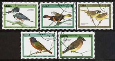 Cuba 1996 Death Centenary of Juan Gundlach (ornithologist) Birds perf set of 5 cto used, SG 3987-92