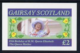 Gairsay 1985 Life & Times of HM Queen Mother imperf deluxe sheet (�2 value) unmounted mint