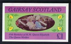 Gairsay 1985 Life & Times of HM Queen Mother imperf souvenir sheet (�1 value) unmounted mint