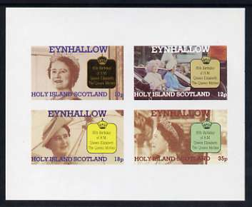Eynhallow 1985 Life & Times of HM Queen Mother imperf sheetlet of 4 values (10p, 12p, 18p & 35p) unmounted mint