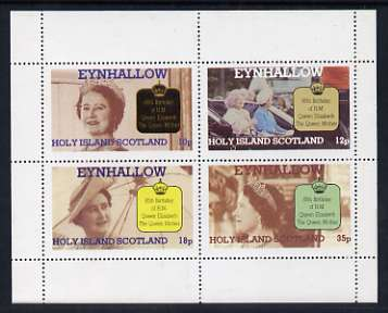 Eynhallow 1985 Life & Times of HM Queen Mother perf sheetlet of 4 values (10p, 12p, 18p & 35p) unmounted mint