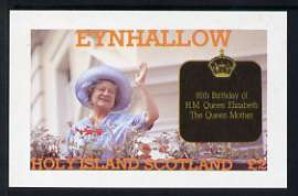 Eynhallow 1985 Life & Times of HM Queen Mother imperf deluxe sheet (�2 value) unmounted mint