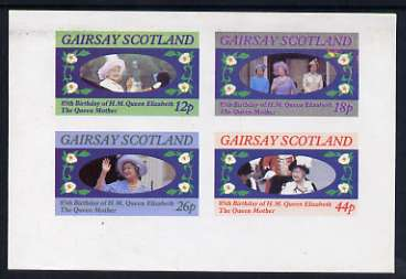Gairsay 1985 Life & Times of HM Queen Mother imperf sheetlet of 4 values (12p, 18p, 26p & 44p) unmounted mint