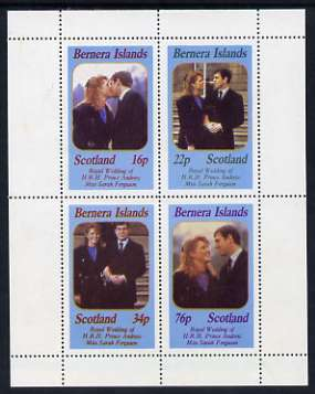 Bernera 1986 Royal Wedding perf sheetlet of 4, unmounted mint