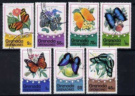 Grenada - Grenadines 1975 Butterflies complete set of 7 cto used SG 76-82*