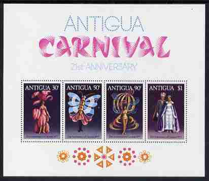 Antigua 1977 21st Anniversary of Carnival perf m/sheet unmounted mint, SG MS 547