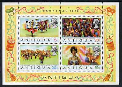 Antigua 1973 Carnival perf m/sheet unmounted mint, SG MS 363