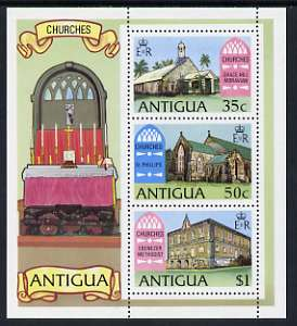 Antigua 1975 Antiguan Churches perf m/sheet unmounted mint, SG MS 438
