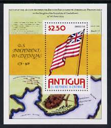 Antigua 1976 USA Bicentenary perf m/sheet unmounted mint, SG MS 494