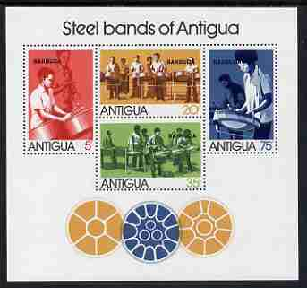Barbuda 1974 Antiguan Steel Bands perf m/sheet unmounted mint, SG MS 167