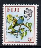 Fiji 1975-77 Birds & Flowers 5c (Grey-backed White Eye) unmounted mint, SG 509