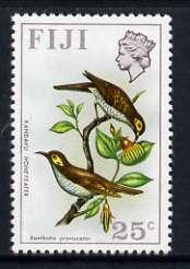 Fiji 1971-72 Birds & Flowers 25c (Yellow-faced Honeyeater) unmounted mint SG 445