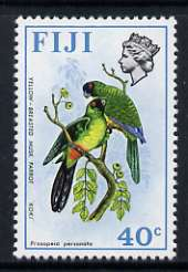 Fiji 1975-77 Birds & Flowers 40c (Masked Shining Parrot) unmounted mint SG 517